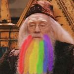 gay dumbledore beard