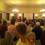 Michael CASHMAN, deputado do Parlamento Europeu que tem liderado o trabalho do Intergrupo LGBT, homenageado no jantar de encerramento
