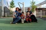 Famílias espanhola e finlandesa conhecem-se   (foto de Marie-Andrée Fallu)